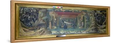 The Sleep of Arthur in Avalon, 1894-Edward Burne-Jones-Framed Stretched Canvas Print