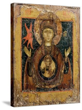 The Mother of God of the Sign, Icon, Late 17th Century--Stretched Canvas Print