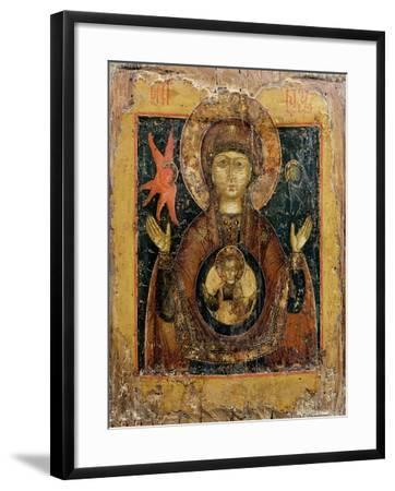 The Mother of God of the Sign, Icon, Late 17th Century--Framed Giclee Print