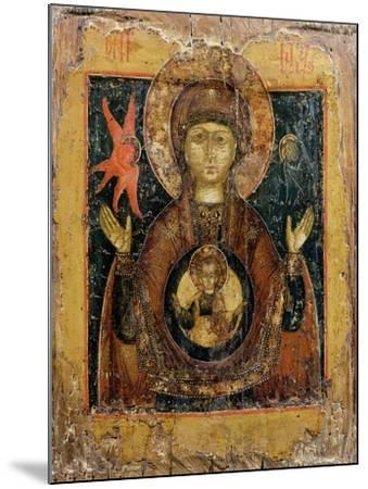 The Mother of God of the Sign, Icon, Late 17th Century--Mounted Giclee Print