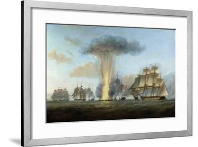 H.M.S. 'Lively' Capturing the Spanish Frigate 'Clara' Off Cape St. Mary, C.1806-Nicholas Pocock-Framed Giclee Print