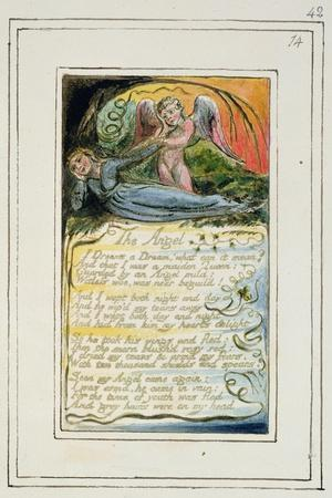 The Angel: Plate 42 from 'Songs of Innocence and of Experience', C.1802-08-William Blake-Stretched Canvas Print