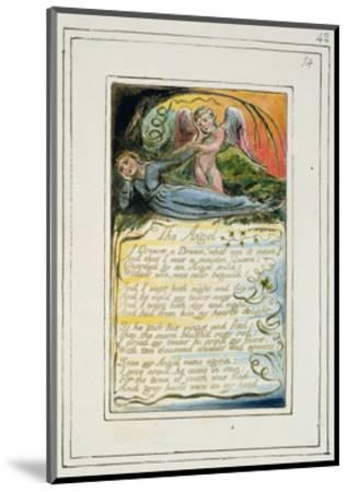 The Angel: Plate 42 from 'Songs of Innocence and of Experience', C.1802-08-William Blake-Mounted Giclee Print