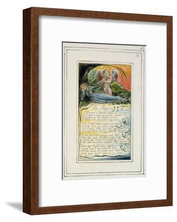 The Angel: Plate 42 from 'Songs of Innocence and of Experience', C.1802-08-William Blake-Framed Giclee Print
