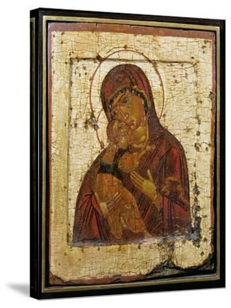 The Mother of God of Vladimir, Russian Icon, Pskov School,Late 15th Century--Stretched Canvas Print