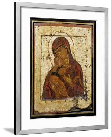 The Mother of God of Vladimir, Russian Icon, Pskov School,Late 15th Century--Framed Giclee Print