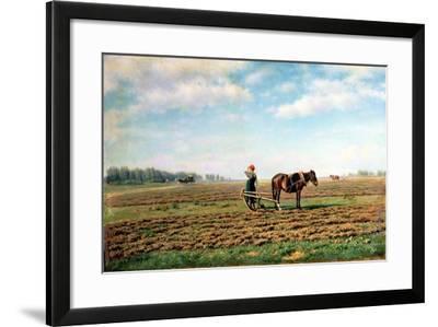 Ploughing the Field, 1871-Mikhail Konstantinovich Klodt-Framed Giclee Print