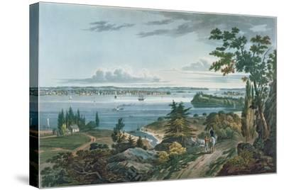 New York from Weehawk, Engraved by I. Hill, 1820-3-William Guy Wall-Stretched Canvas Print