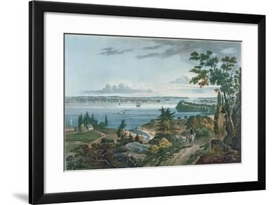 New York from Weehawk, Engraved by I. Hill, 1820-3-William Guy Wall-Framed Giclee Print