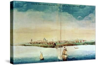 View of New Amsterdam, 1650-3--Stretched Canvas Print