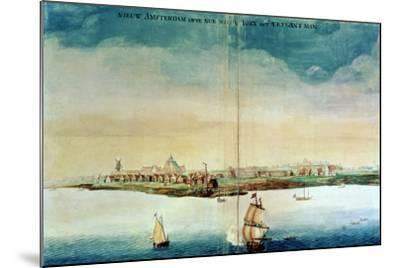 View of New Amsterdam, 1650-3--Mounted Giclee Print