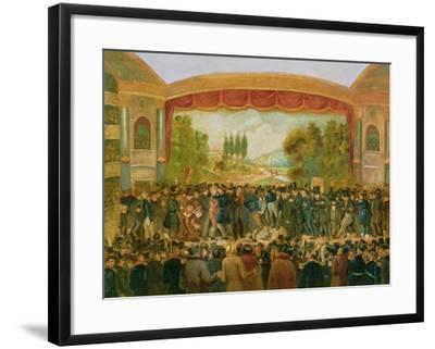 American Theatre, Bowery, New York, Depicting the 57th Night of Mr T.D. Jim Crow Rice (1808-60)…--Framed Giclee Print