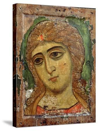 Archangel Gabriel (Angel with Golden Hair) Russian Icon, 12th Century--Stretched Canvas Print