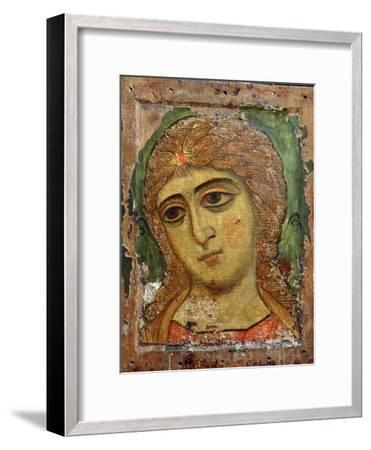 Archangel Gabriel (Angel with Golden Hair) Russian Icon, 12th Century--Framed Giclee Print