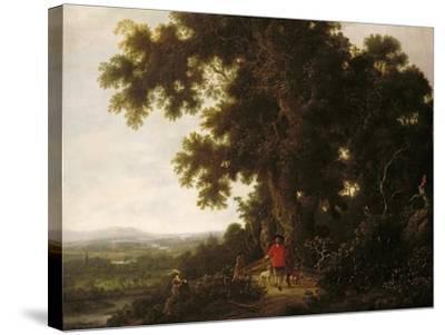 Landscape with Huntsmen and their Hounds-Joris van der Haagen or Hagen-Stretched Canvas Print