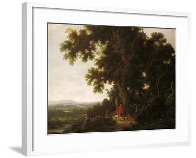 Landscape with Huntsmen and their Hounds-Joris van der Haagen or Hagen-Framed Giclee Print