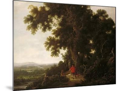Landscape with Huntsmen and their Hounds-Joris van der Haagen or Hagen-Mounted Giclee Print