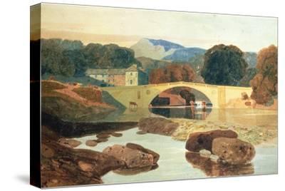 Greta Bridge, Yorkshire, 1810-John Sell Cotman-Stretched Canvas Print