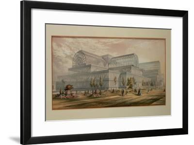 The Exterior of Crystal Palace, Sydenham-George Baxter-Framed Giclee Print