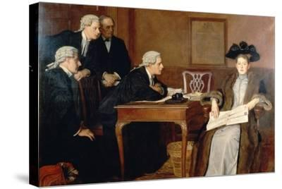 Defendant and Counsel, 1895-William Frederick Yeames-Stretched Canvas Print