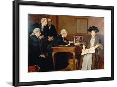 Defendant and Counsel, 1895-William Frederick Yeames-Framed Giclee Print