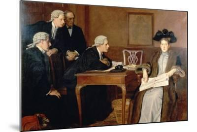 Defendant and Counsel, 1895-William Frederick Yeames-Mounted Giclee Print