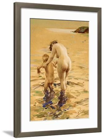 Her First Dip-Anders Leonard Zorn-Framed Giclee Print