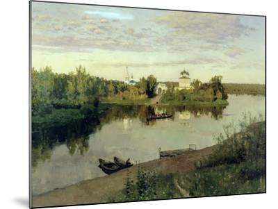 The Evening Bell Tolls, 1892-Isaak Ilyich Levitan-Mounted Giclee Print