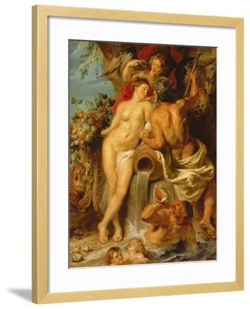 The Union of Earth and Water, C.1618-Peter Paul Rubens-Framed Giclee Print