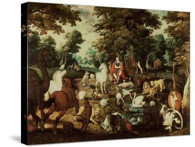 Orpheus Charming the Animals-Jacob Bouttats-Stretched Canvas Print