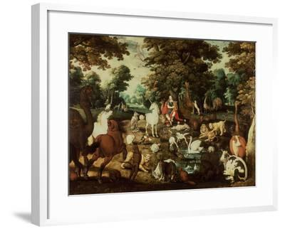 Orpheus Charming the Animals-Jacob Bouttats-Framed Giclee Print