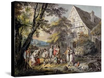 Autumn: Swarm of Bees, C.1780-George Robertson-Stretched Canvas Print