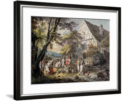 Autumn: Swarm of Bees, C.1780-George Robertson-Framed Giclee Print