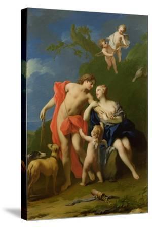 Venus and Adonis-Jacopo Amigoni-Stretched Canvas Print