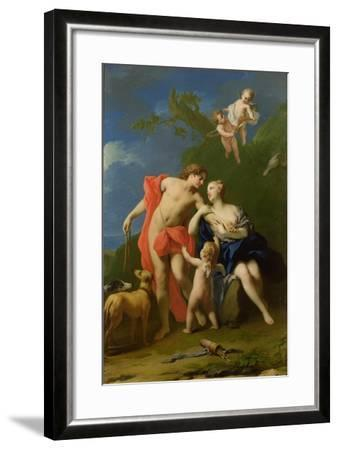 Venus and Adonis-Jacopo Amigoni-Framed Giclee Print