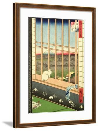 Asakusa Rice Fields During the Festival of the Cock from the Series '100 Views of Edo', Pub. 1857-Ando Hiroshige-Framed Giclee Print