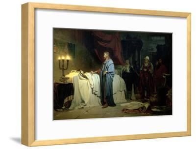 The Raising of Jairus's Daughter, 1871-Ilya Efimovich Repin-Framed Giclee Print