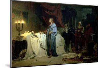 The Raising of Jairus's Daughter, 1871-Ilya Efimovich Repin-Mounted Giclee Print