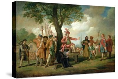 Robert Kett (D.1549) under the Oak of the Reformation-Samuel Wale-Stretched Canvas Print