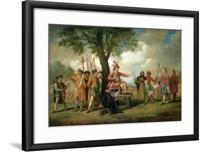 Robert Kett (D.1549) under the Oak of the Reformation-Samuel Wale-Framed Giclee Print
