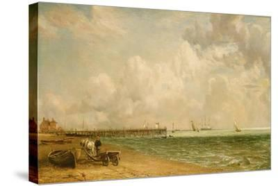 Yarmouth Jetty-John Constable-Stretched Canvas Print
