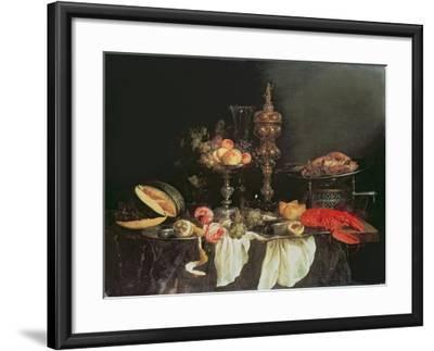 Still Life with a Lobster and a Turkey-Abraham Hendricksz Van Beyeren-Framed Giclee Print