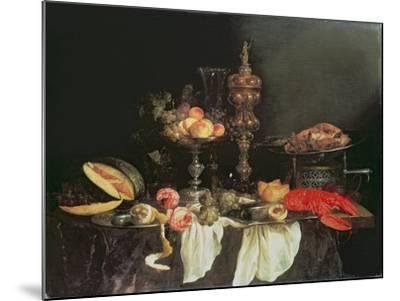 Still Life with a Lobster and a Turkey-Abraham Hendricksz Van Beyeren-Mounted Giclee Print