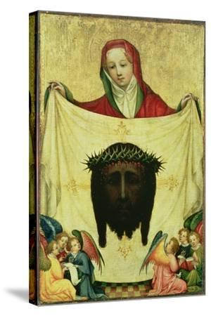 St. Veronica with the Shroud of Christ, C.1420- Master of the Munich St. Veronica-Stretched Canvas Print