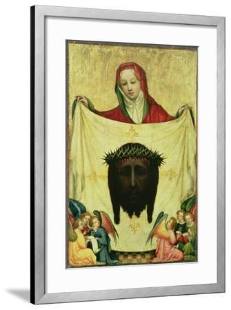 St. Veronica with the Shroud of Christ, C.1420- Master of the Munich St. Veronica-Framed Giclee Print