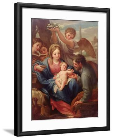 Madonna and Child with St. Joseph, or the Rest on the Flight into Egypt-Francesco Mancini-Framed Giclee Print