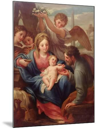 Madonna and Child with St. Joseph, or the Rest on the Flight into Egypt-Francesco Mancini-Mounted Giclee Print