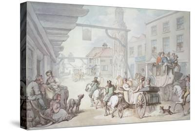 The Post Chaise-Thomas Rowlandson-Stretched Canvas Print