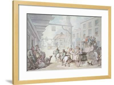 The Post Chaise-Thomas Rowlandson-Framed Giclee Print