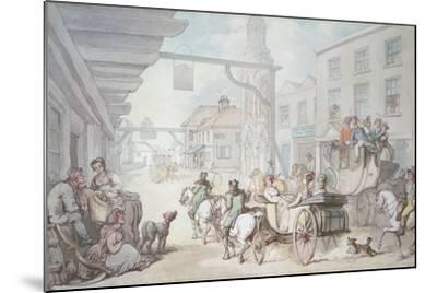 The Post Chaise-Thomas Rowlandson-Mounted Giclee Print